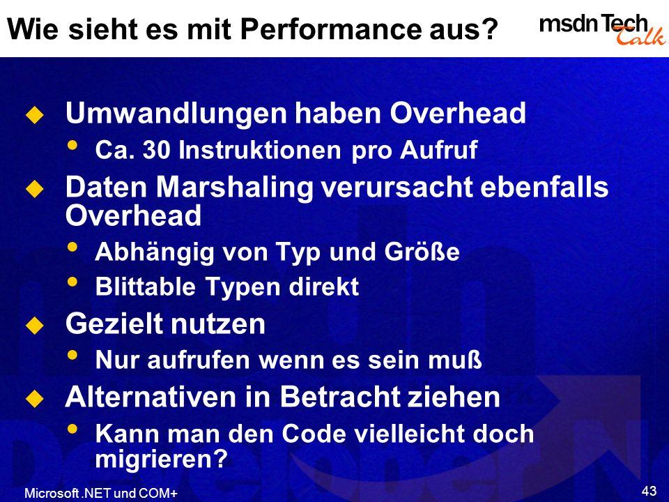 Wie sieht es mit Performance aus