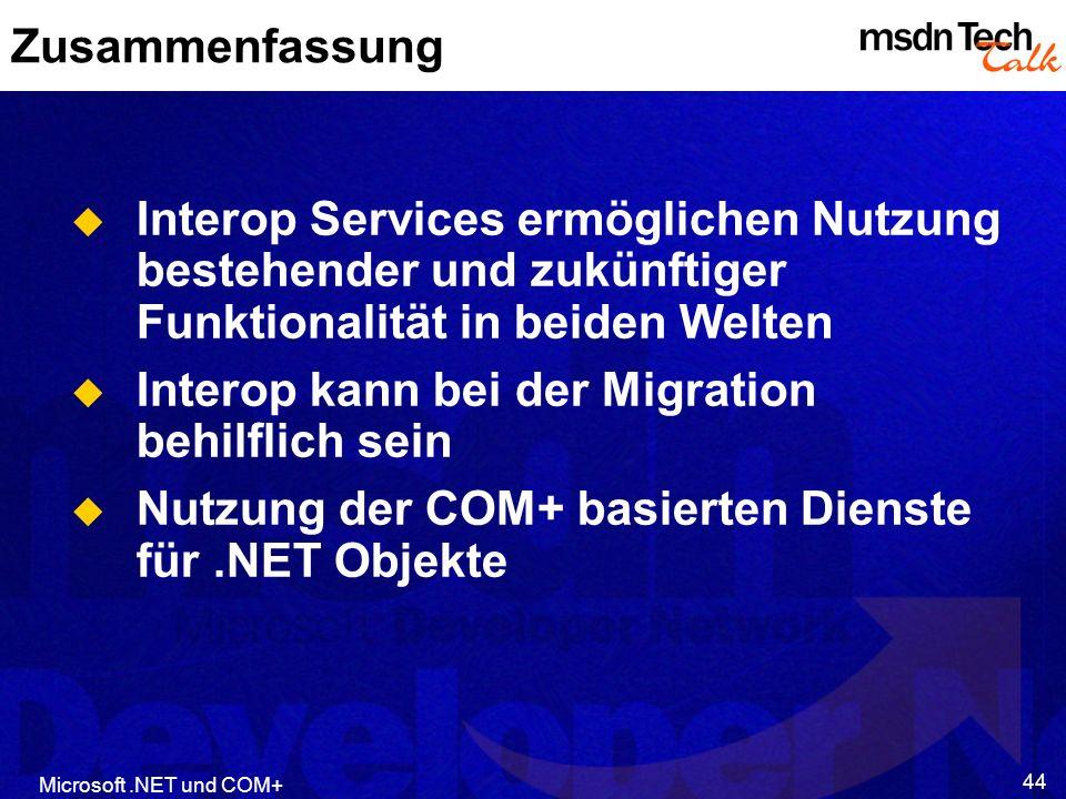 Interop kann bei der Migration behilflich sein