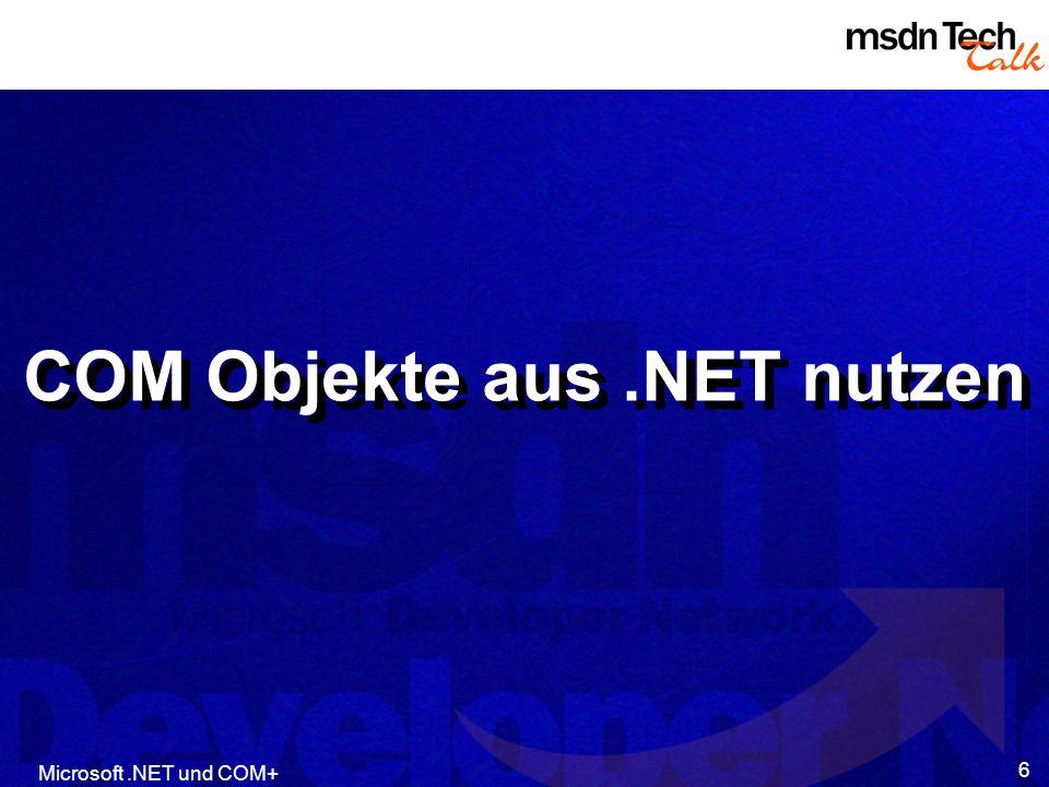 COM Objekte aus .NET nutzen
