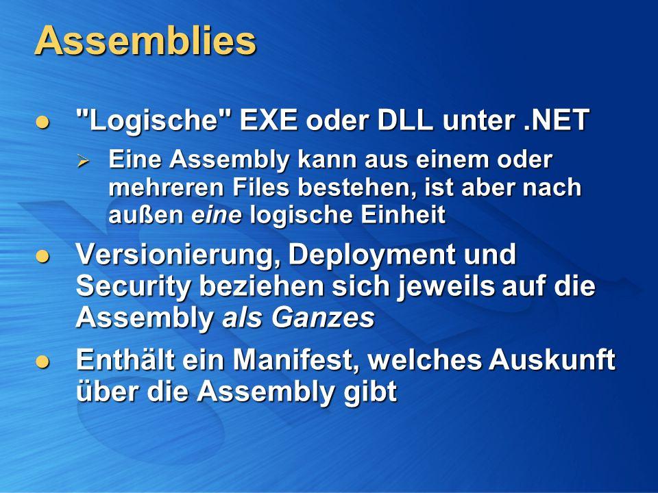 Assemblies Logische EXE oder DLL unter .NET
