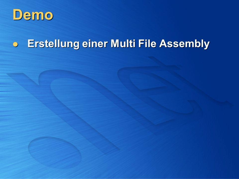 Demo Erstellung einer Multi File Assembly