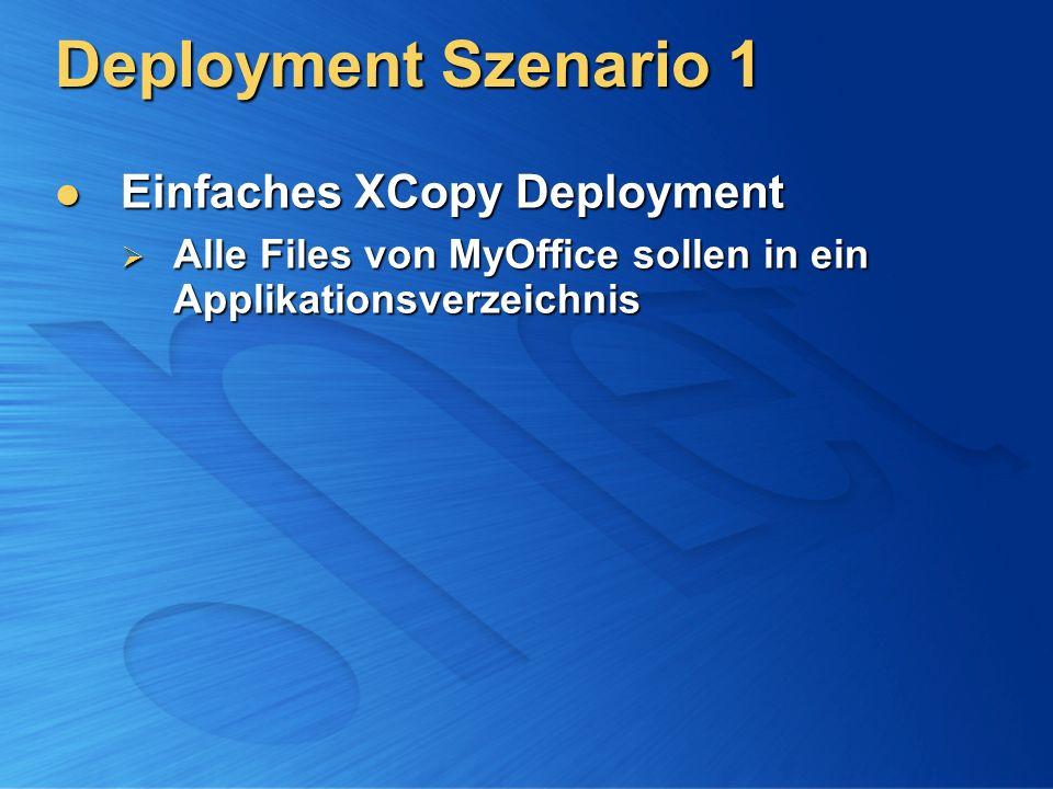 Deployment Szenario 1 Einfaches XCopy Deployment