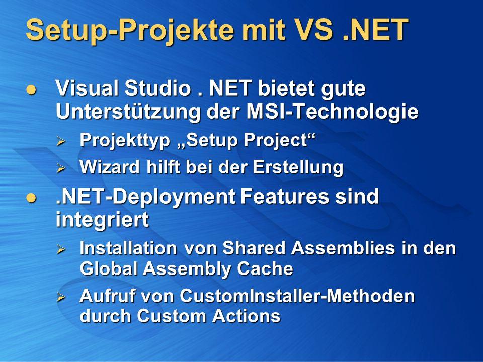 Setup-Projekte mit VS .NET