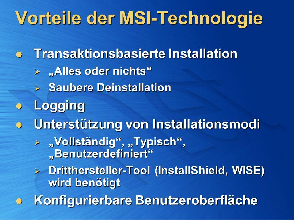 Vorteile der MSI-Technologie