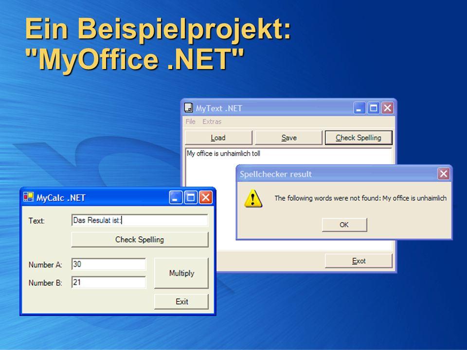 Ein Beispielprojekt: MyOffice .NET