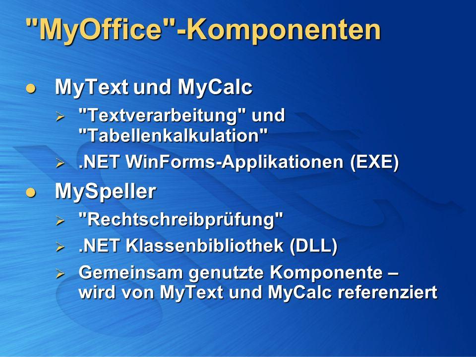 MyOffice -Komponenten