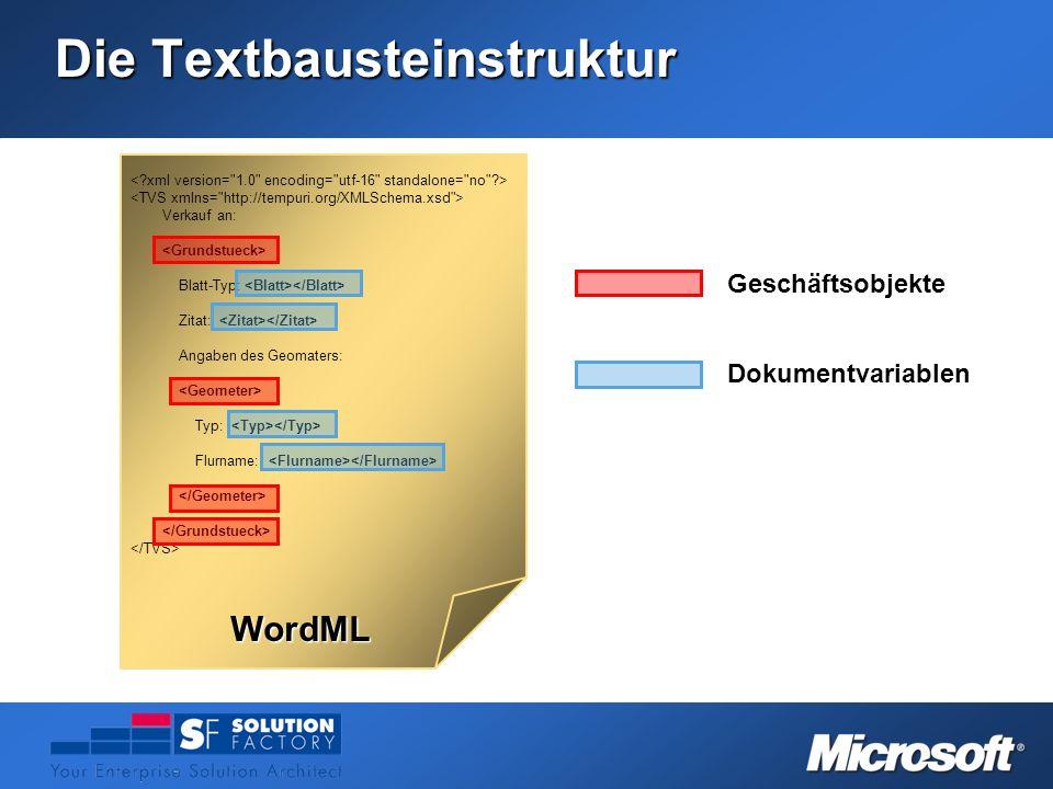 Die Textbausteinstruktur