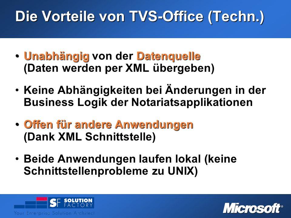 Die Vorteile von TVS-Office (Techn.)