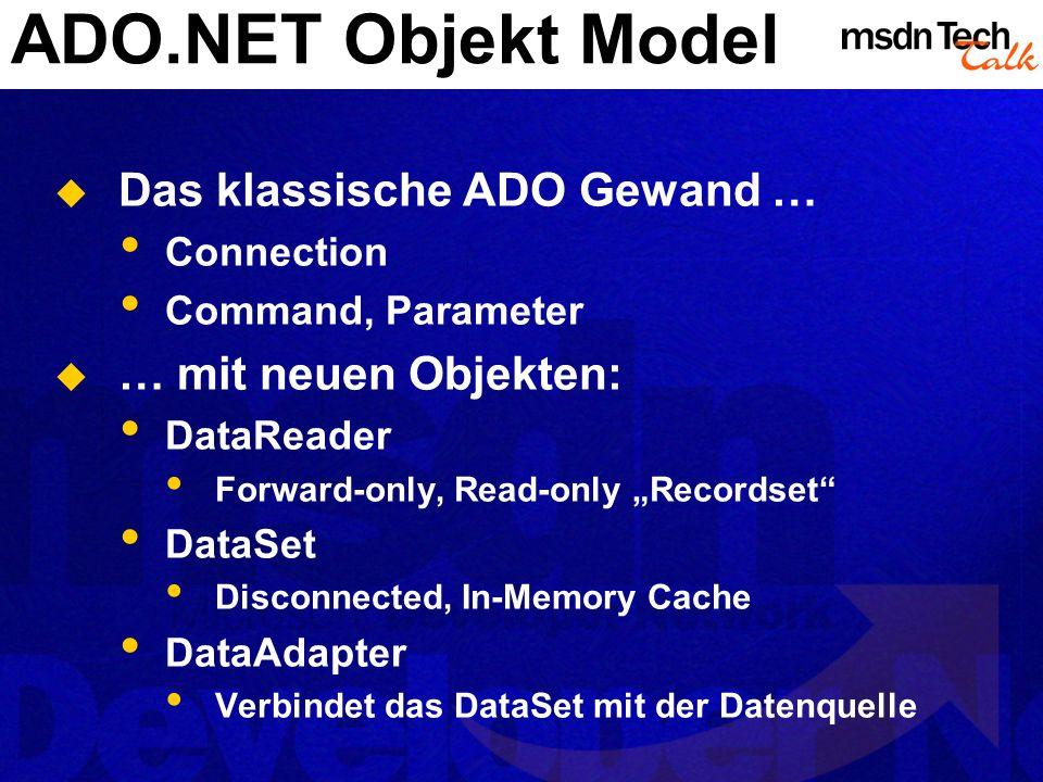 MSDN TechTalk – März 2002 ADO.NET 12
