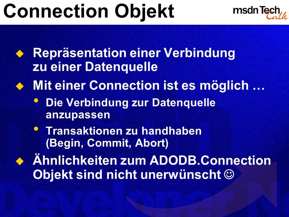 MSDN TechTalk – März 2002 ADO.NET 13