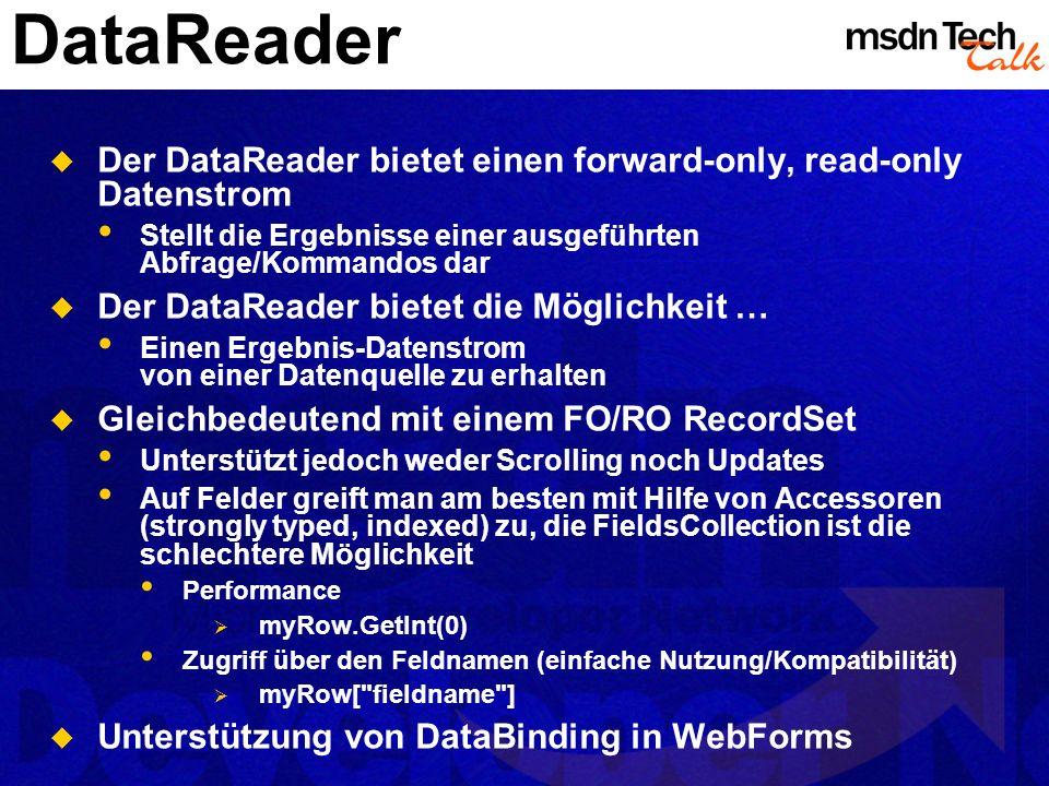 MSDN TechTalk – März 2002 ADO.NET 17