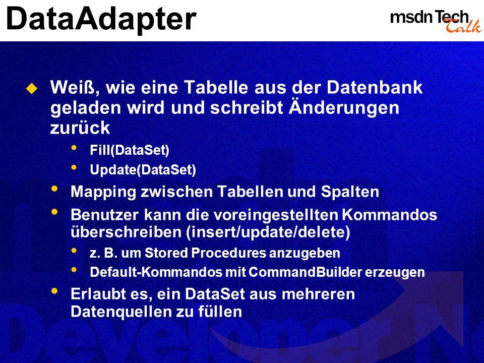 MSDN TechTalk – März 2002 ADO.NET 22