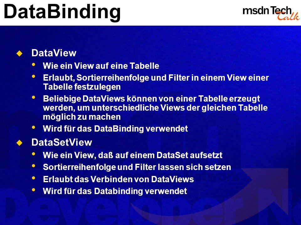 MSDN TechTalk – März 2002 ADO.NET 24