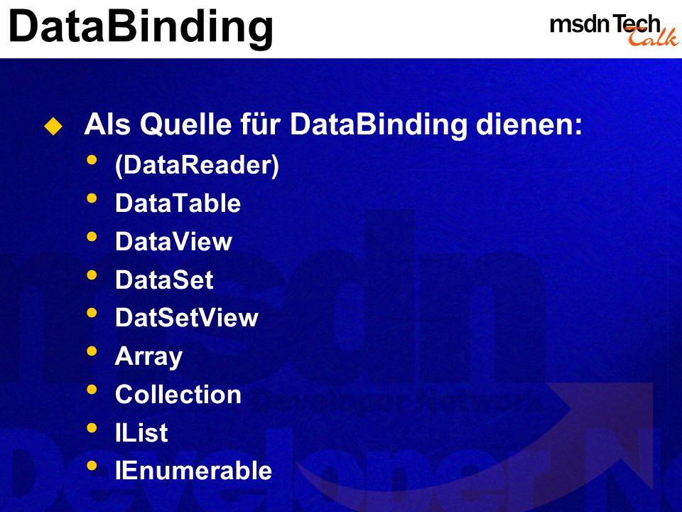 MSDN TechTalk – März 2002 ADO.NET 25