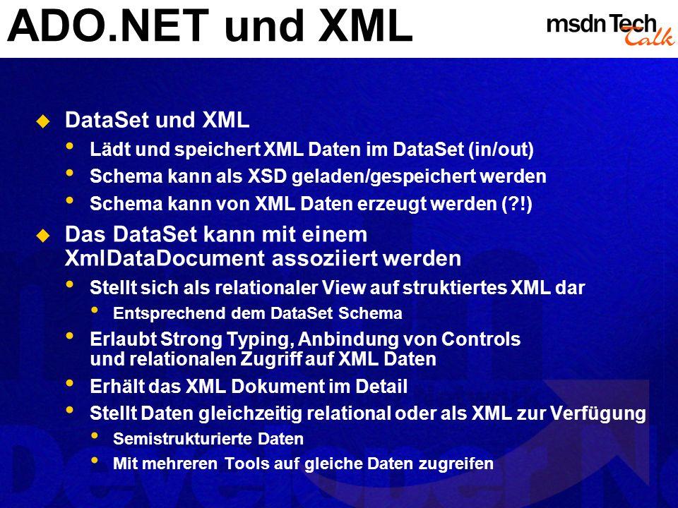 MSDN TechTalk – März 2002 ADO.NET 26