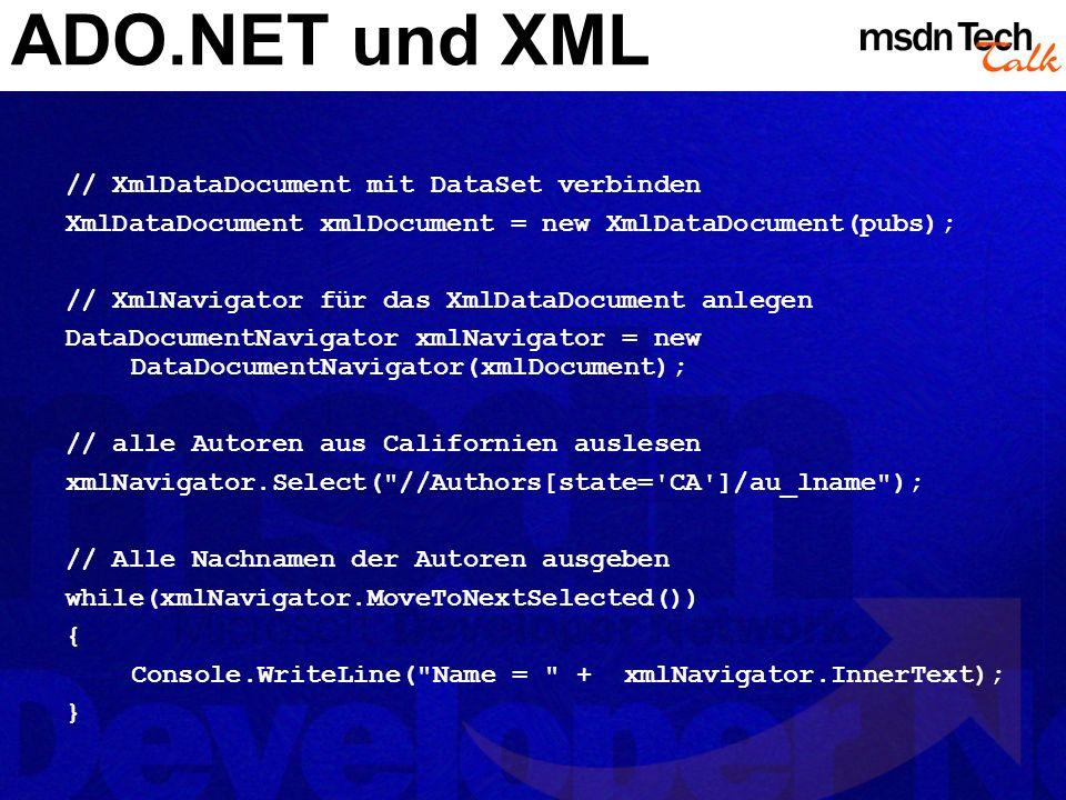 MSDN TechTalk – März 2002 ADO.NET 27