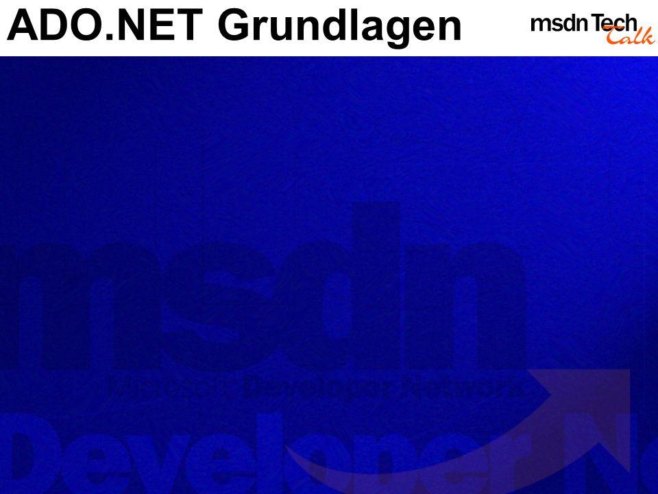 ADO.NET Grundlagen
