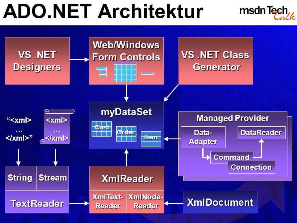 MSDN TechTalk – März 2002 ADO.NET 8
