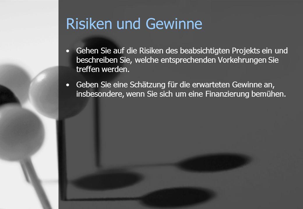 Risiken und Gewinne