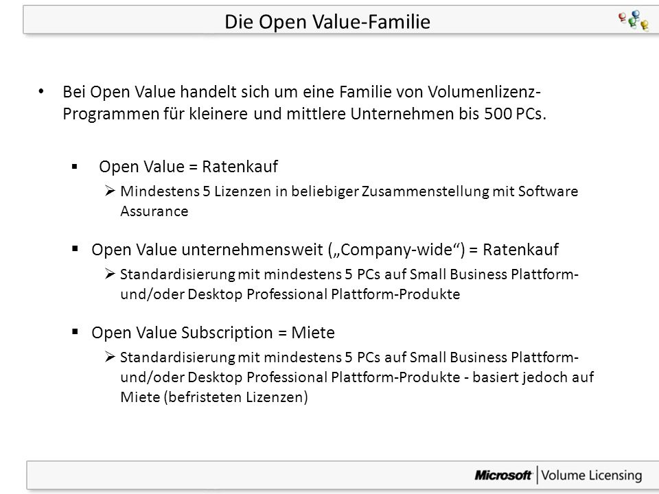 Die Open Value-Familie