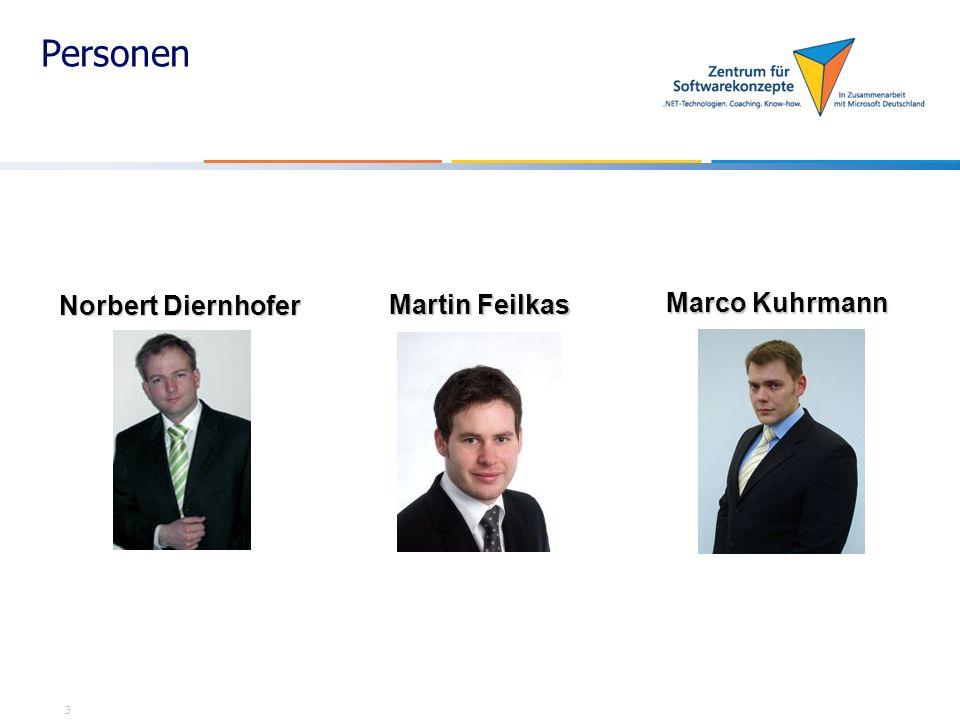 Personen Norbert Diernhofer Martin Feilkas Marco Kuhrmann