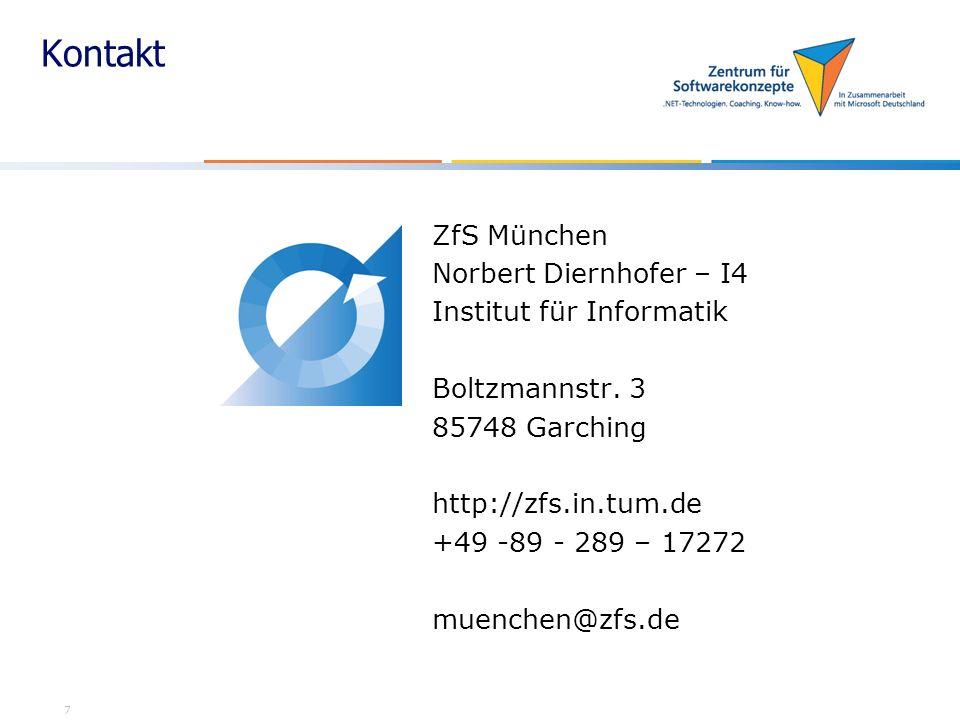 Kontakt ZfS München Norbert Diernhofer – I4 Institut für Informatik