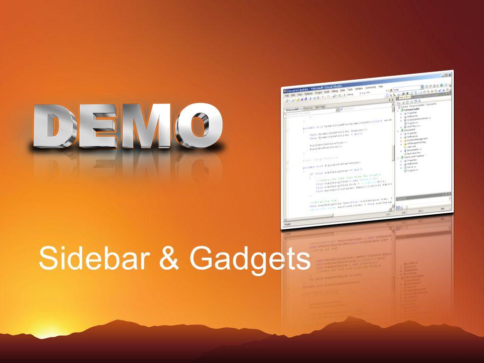 Sidebar & Gadgets 15