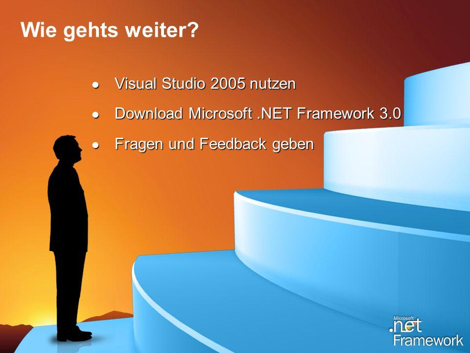Wie gehts weiter Visual Studio 2005 nutzen
