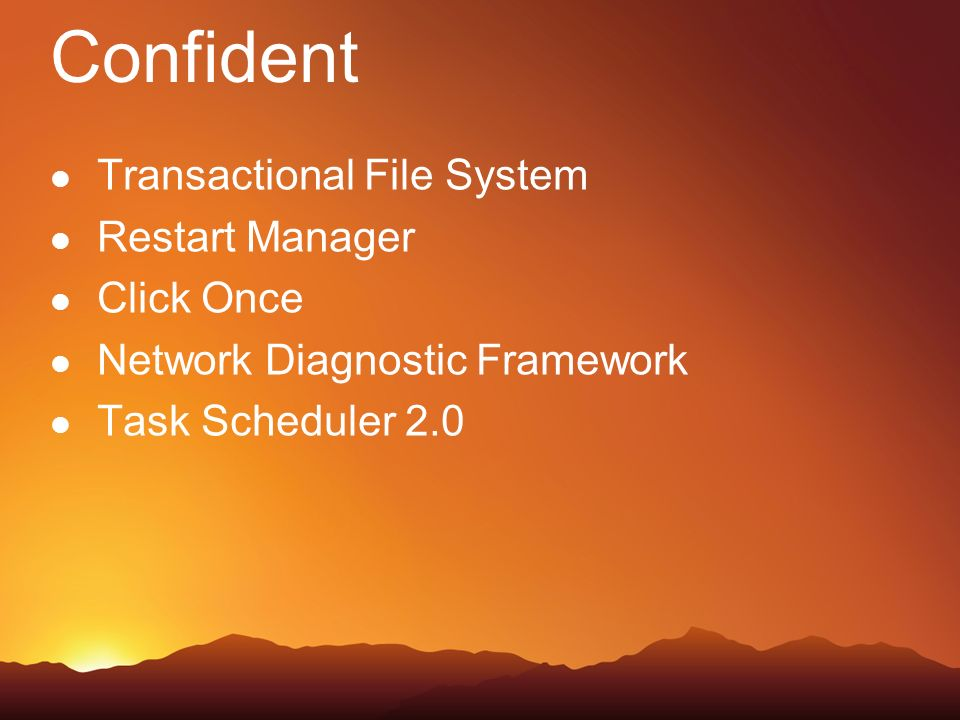 Confident Transactional File System Restart Manager Click Once