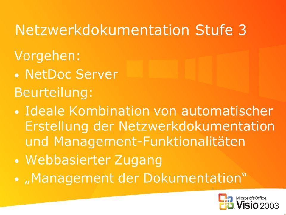 Netzwerkdokumentation Stufe 3
