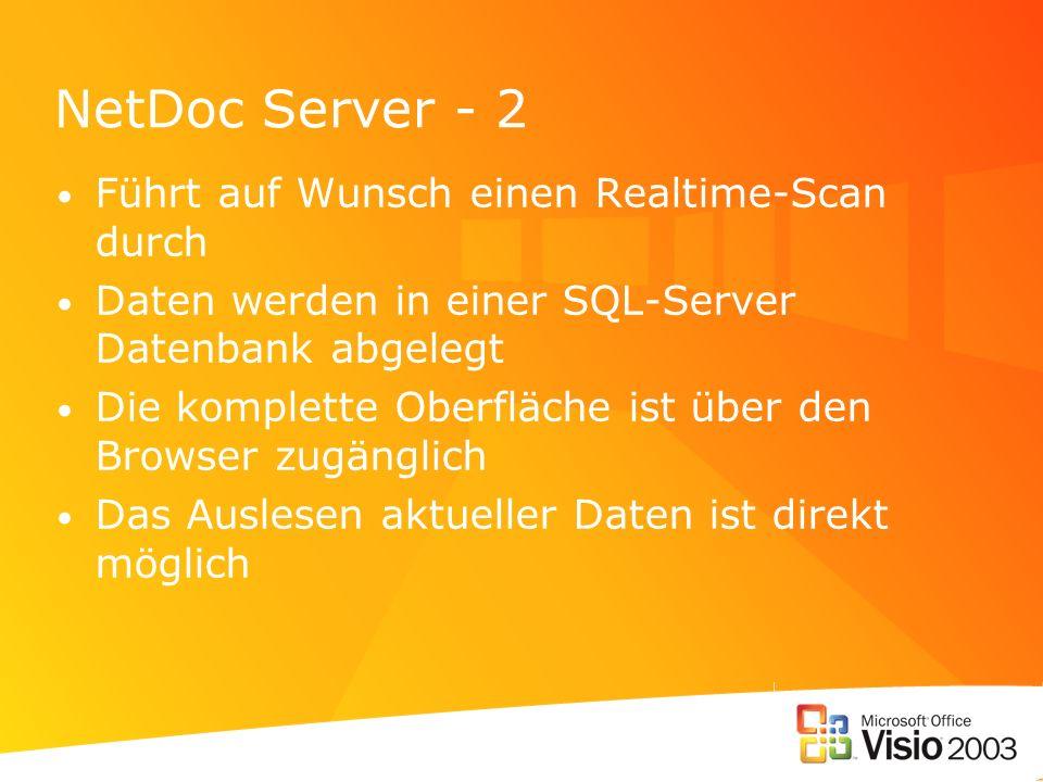NetDoc Server - 2 Führt auf Wunsch einen Realtime-Scan durch