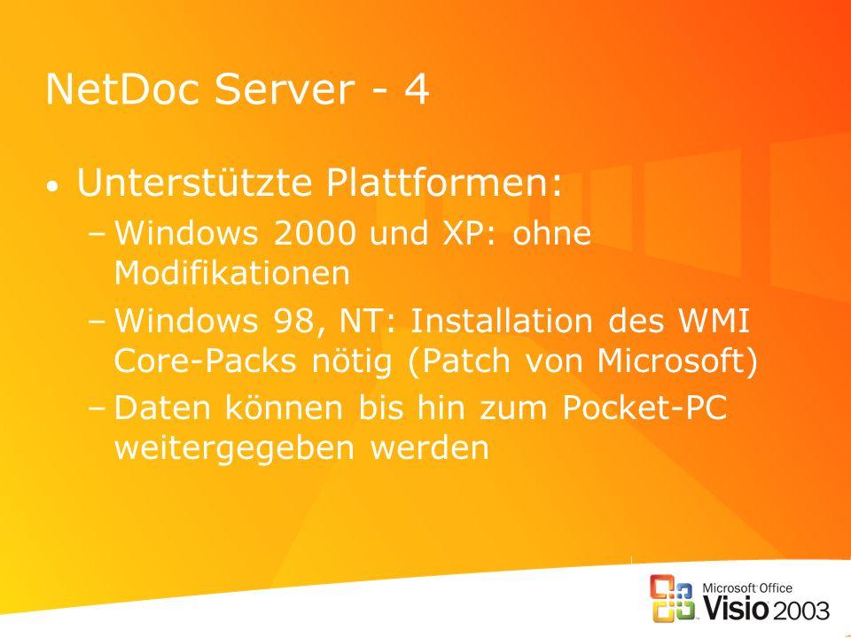 NetDoc Server - 4 Unterstützte Plattformen: