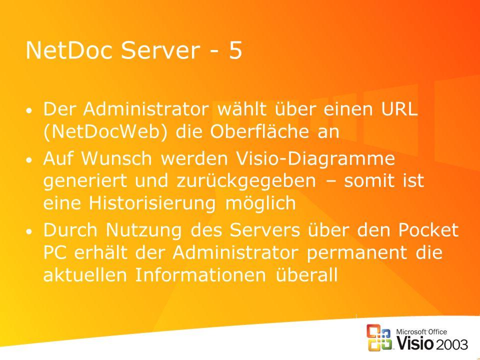 NetDoc Server - 5 Der Administrator wählt über einen URL (NetDocWeb) die Oberfläche an.