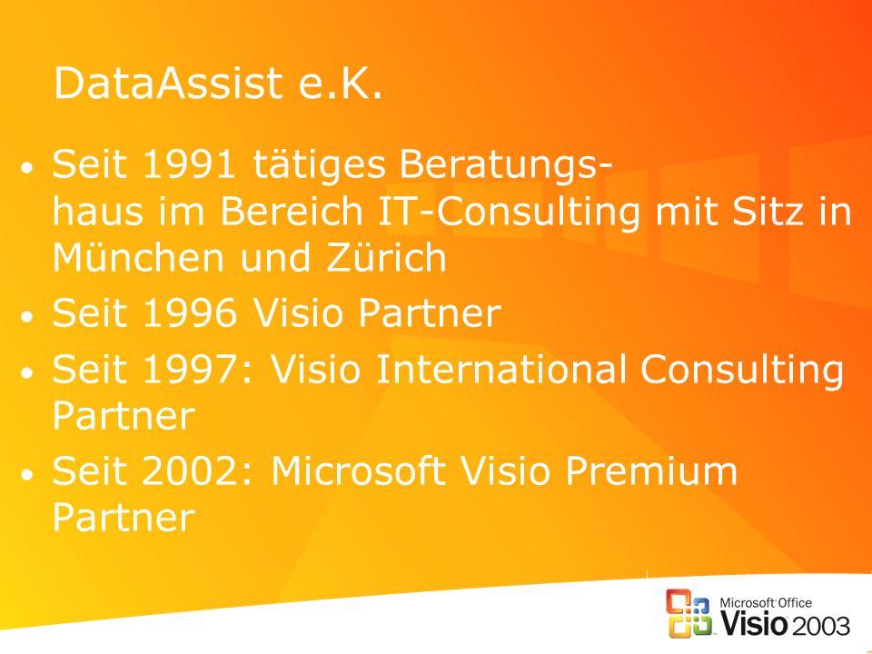 DataAssist e.K. Seit 1991 tätiges Beratungs- haus im Bereich IT-Consulting mit Sitz in München und Zürich.