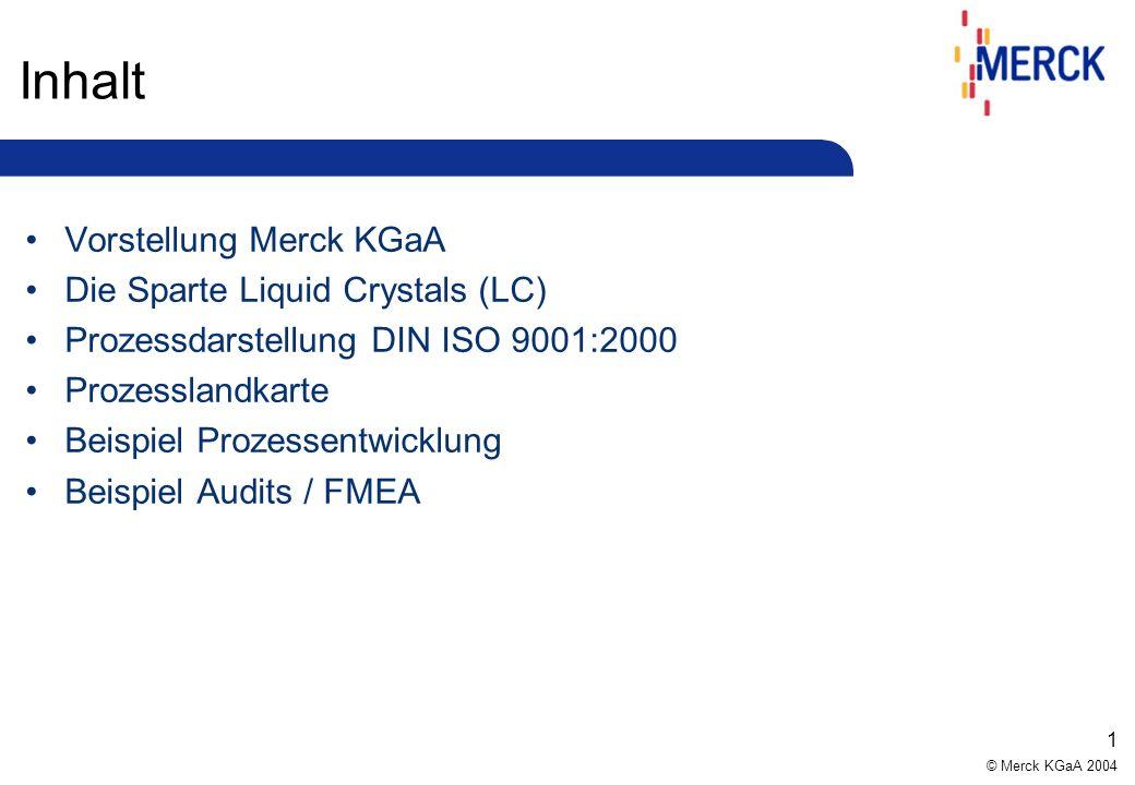 Inhalt Vorstellung Merck KGaA Die Sparte Liquid Crystals (LC)
