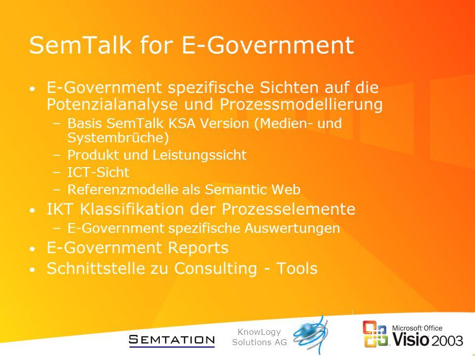 SemTalk for E-Government