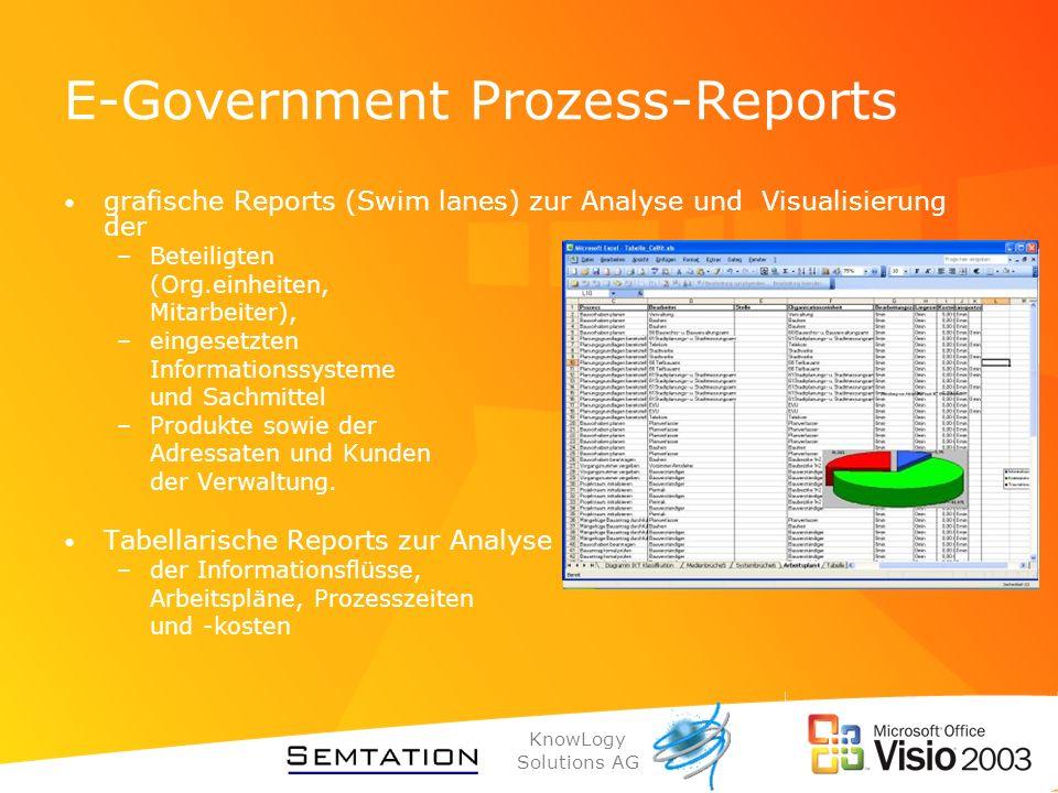 E-Government Prozess-Reports