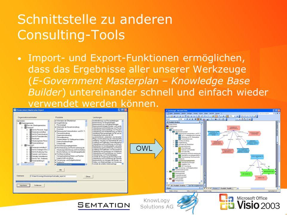 Schnittstelle zu anderen Consulting-Tools