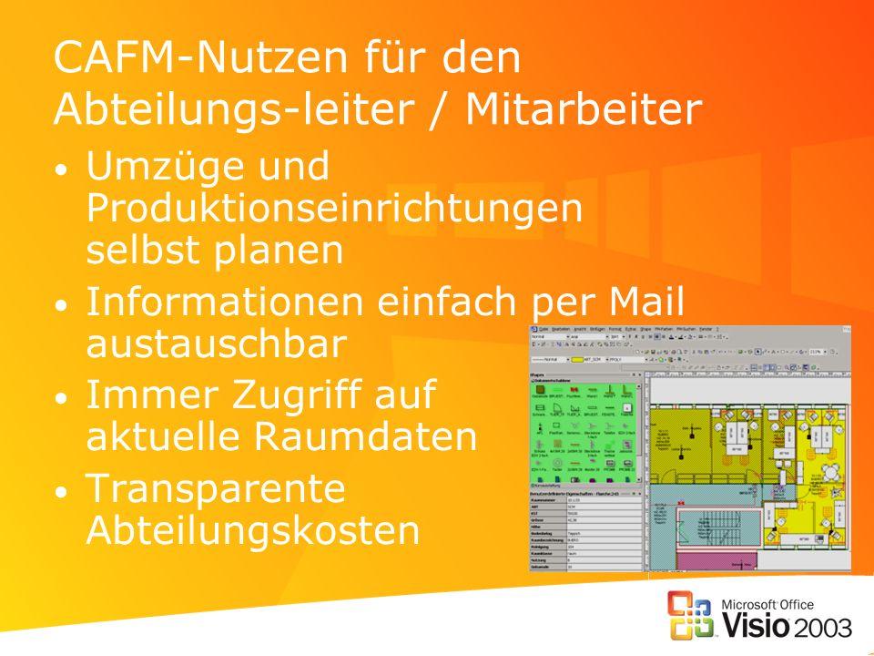 CAFM-Nutzen für den Abteilungs-leiter / Mitarbeiter