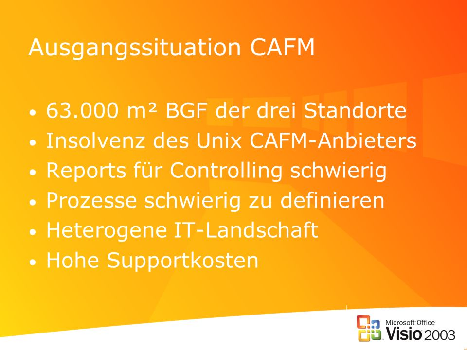 Ausgangssituation CAFM
