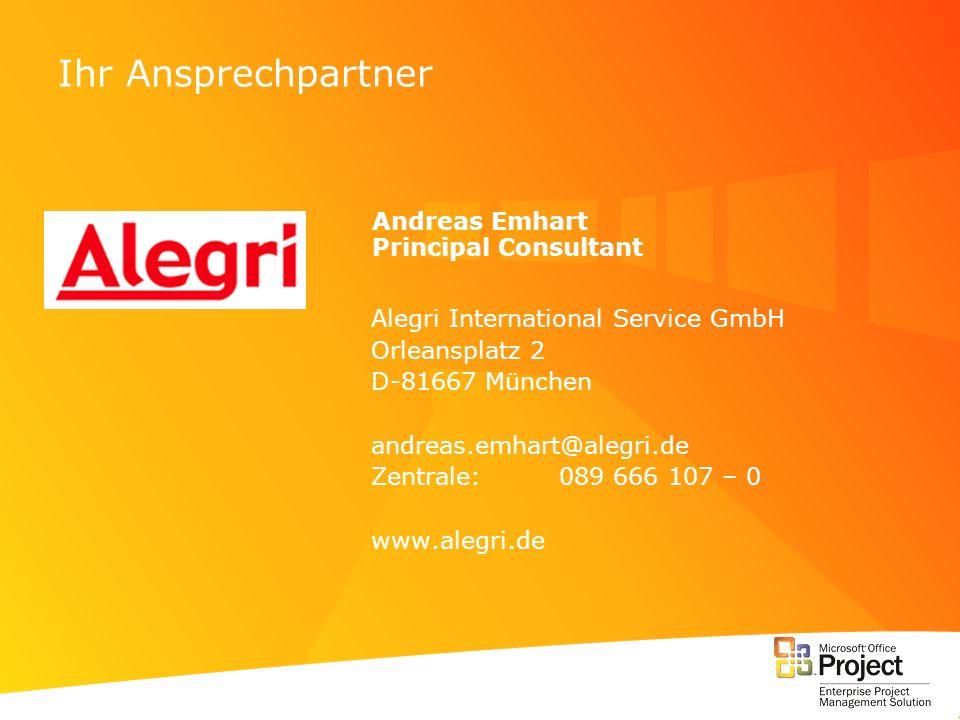Ihr Ansprechpartner Andreas Emhart Principal Consultant
