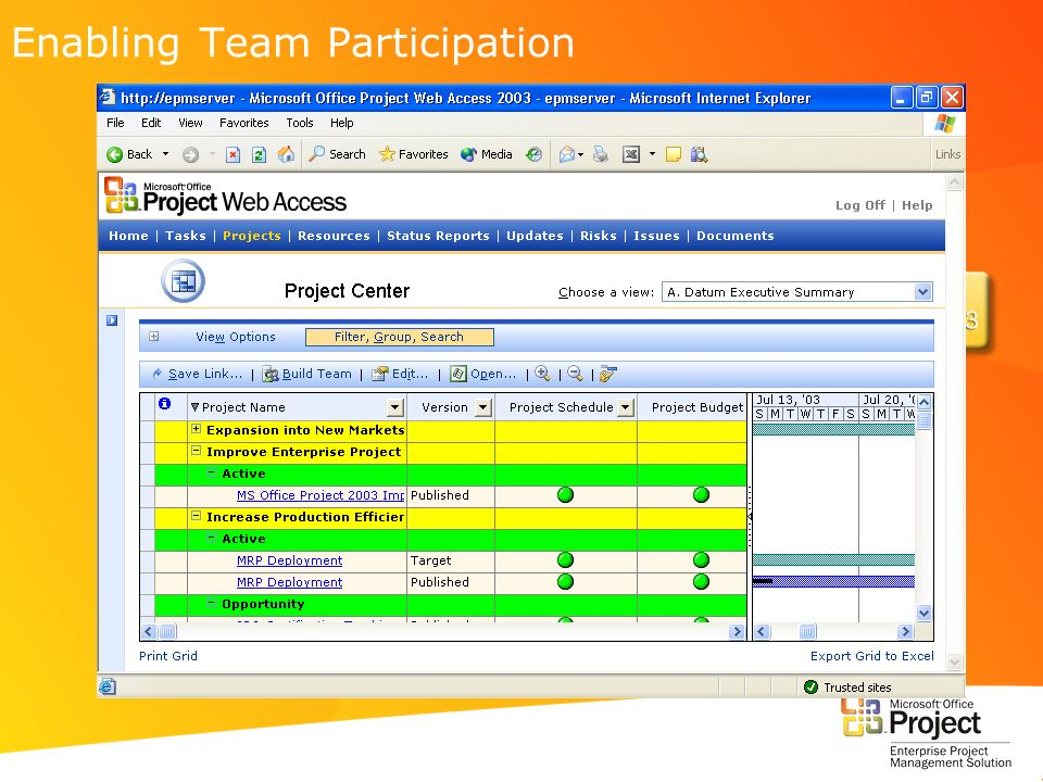Enabling Team Participation