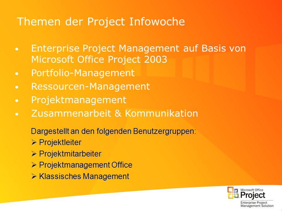 Themen der Project Infowoche