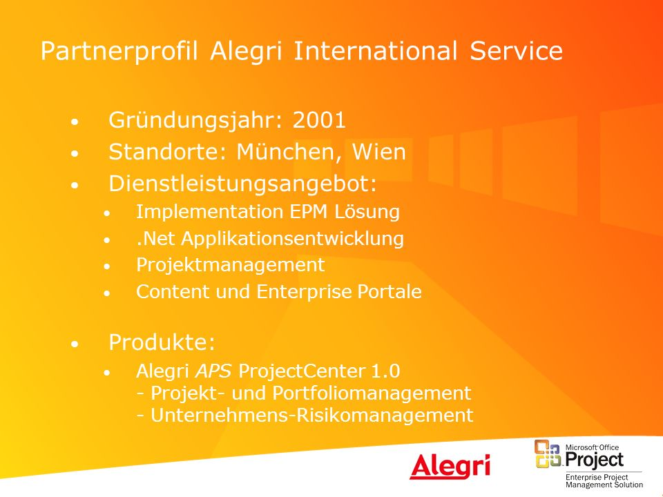 Partnerprofil Alegri International Service
