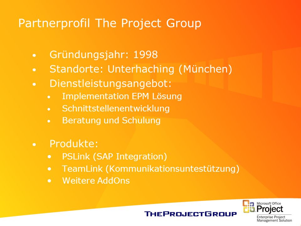 Partnerprofil The Project Group