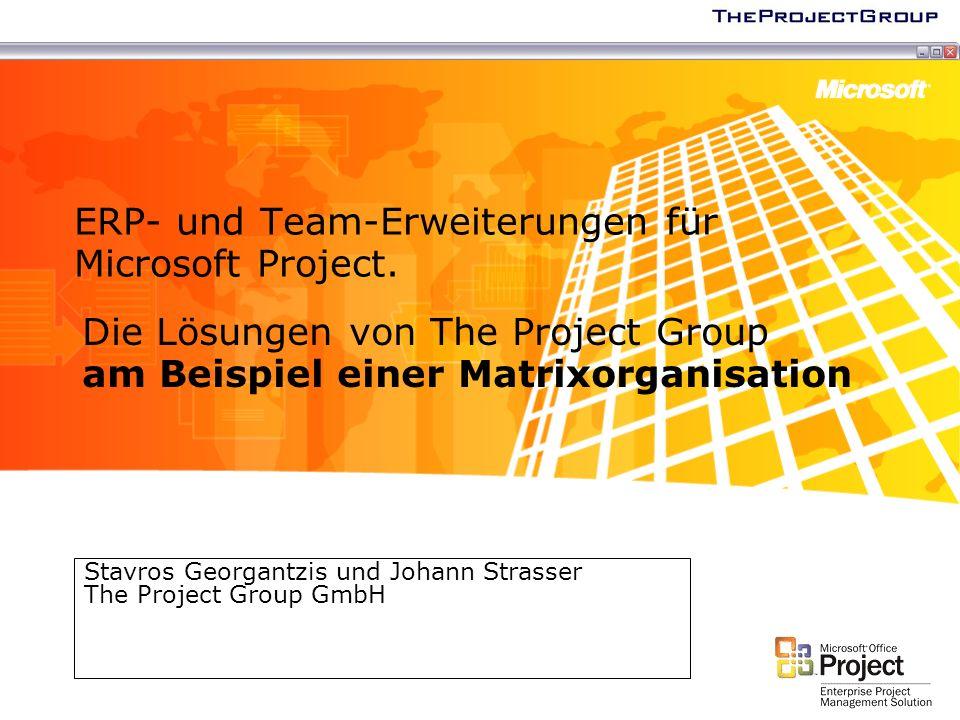ERP- und Team-Erweiterungen für Microsoft Project.