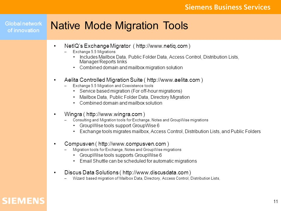 Native Mode Migration Tools