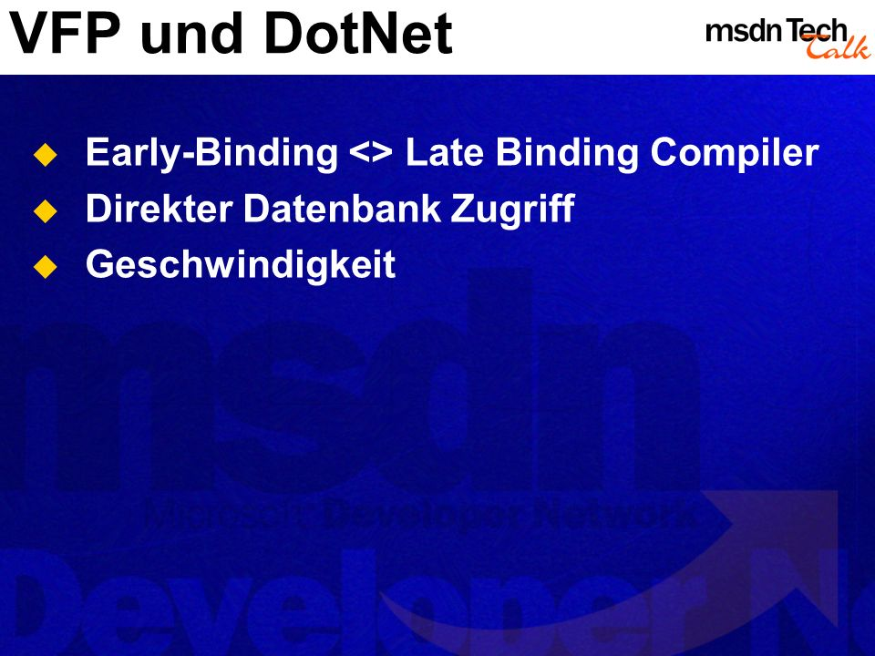 VFP und DotNet Early-Binding <> Late Binding Compiler