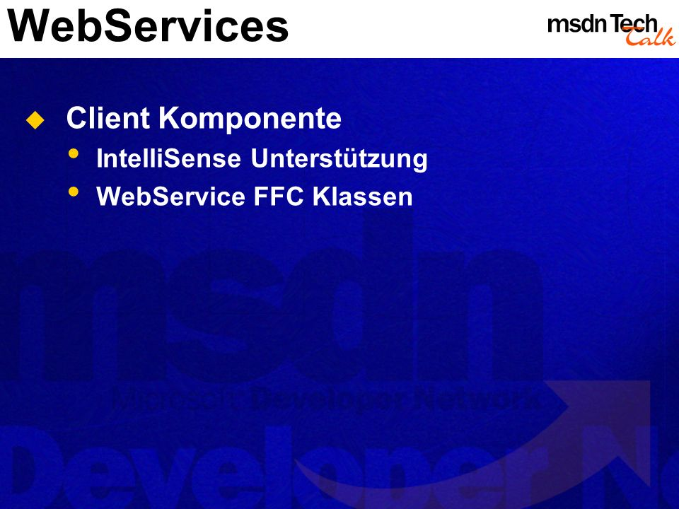 WebServices Client Komponente IntelliSense Unterstützung
