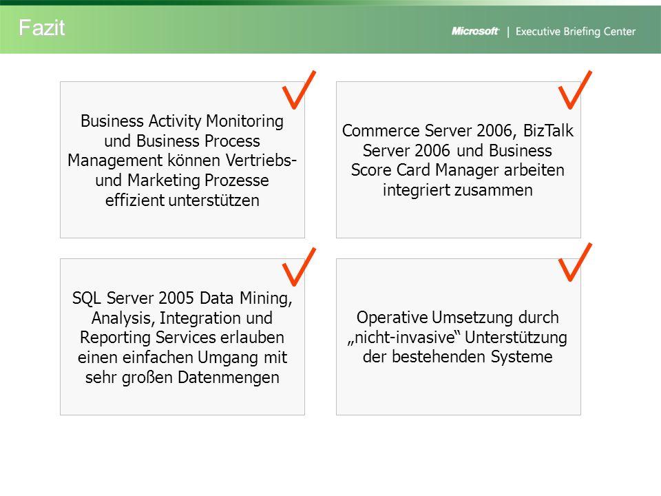 Fazit Business Activity Monitoring und Business Process Management können Vertriebs- und Marketing Prozesse effizient unterstützen.